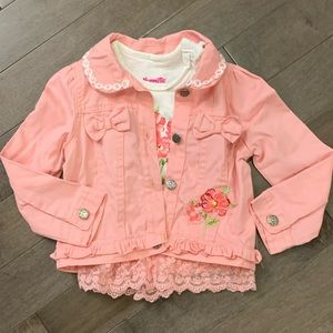 Two piece coat and shirt set size 3T